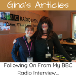 Article - Following On From My BBC Radio Interview - Gina Battye & Liz Green
